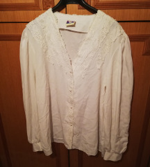 Košulja sa čipkom i biserima