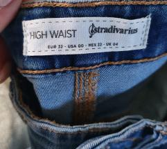 High waist Stradivarius hlače XXS