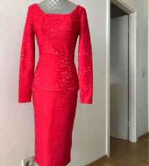 Crvena svečana haljian