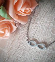 Ogrlica čelik infinity