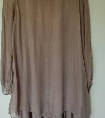 Svila, haljina/tunika 40(druga je poklon )