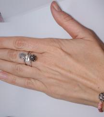 Prsten srebro 925 botun
