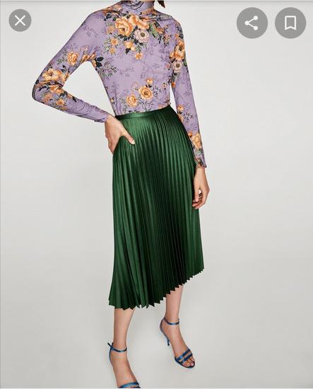 Plisirana suknja Zara