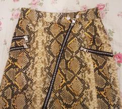 Bershka kozna suknja