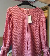 Crvena košulja MANGO, M veličine, nova
