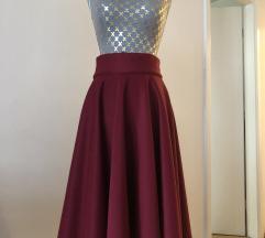 Suknja bordo