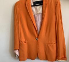 Zara narančasti blazer sako jakna