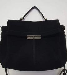 Nova Replay velika crna torba od brušene kože