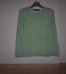 ZARA TRF nježno zelena bluza vel.M