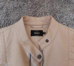 Prljavo roza kožna jakna