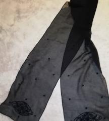 Crna elegantna marama/šal s perlama