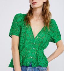 Novi Zara cipkasti zeleni top