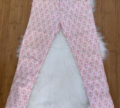 Zara rozo bijele hlače NOVE