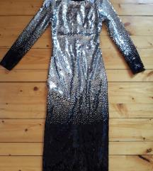 Zara sljokicasta slit haljina