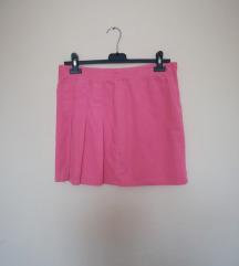 H&m roza kratka suknja od samta