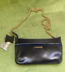 Mona nova kožna modra torbica