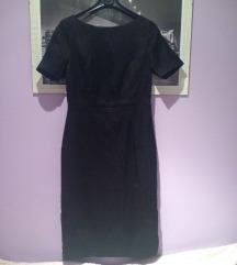 H&m crna midi haljina XS