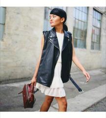 H&M 100% leather waistcoat