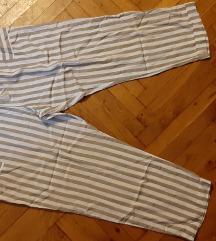 Ženske ljetne prugaste široke hlače