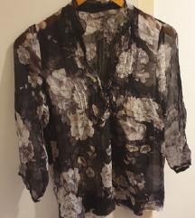 Zara cvjetna bluza od svile