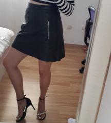 h&m kožna suknja