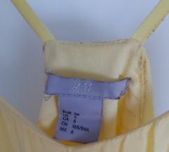 h&m žuta haljina