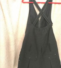 Tunika haljina prsluk siva