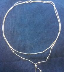 Srebrna ogrlica, lancic sa pt