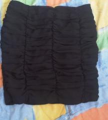 Crna svečana tanja mini suknja - 34/36