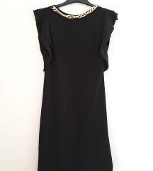 Crna haljina sa volanima