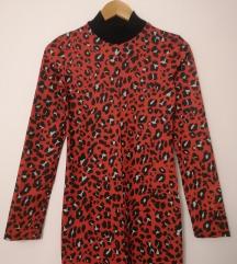 NOVO! Zara bodycon animal print haljina