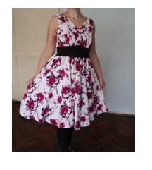 Nova vintage Hearts and Roses haljina vel. 38