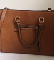 Stradivarius smeđa kožna torba