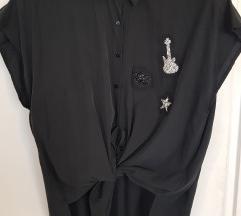 Zara bluza  od modala s aplikacijama