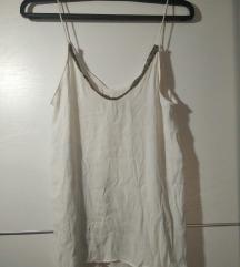 Bijela bluza sa zlatnim detaljima Zara
