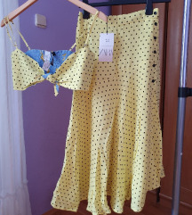 Zara komplet suknja i top