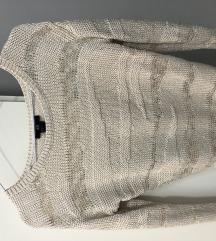 %H&M bijelo/zlatni pulover sa pt!