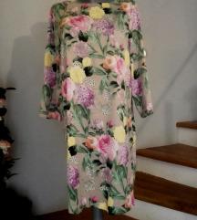 cvjetna saten haljina