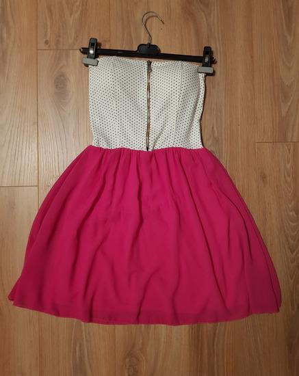 Bijelo roza korzet haljina