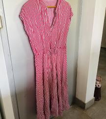 Midi haljina na prugice