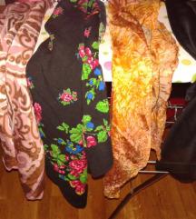 4 kom ženskih marama šalova cvjetni crni