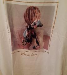 Bijela majica s 3D detaljem Mohito