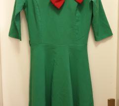 Zelena bozicna haljina