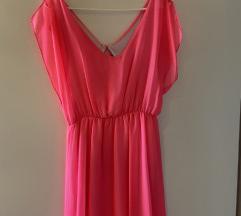 Ljetna haljina kričavo roza