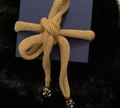 Srebrna ogrlica s pozlatom