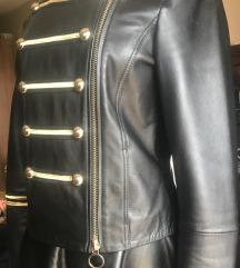 Pinko crna kožna jakna, vel.38