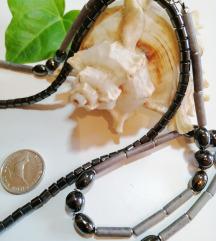 Ogrlica hematit rozenkvarc plus poklon