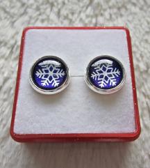 Naušnice ''Purple snowflakes'' (ručni rad)