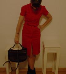 Crvena ljetna retro haljina - Topshop London
