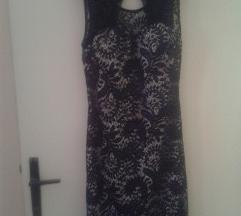 Mala crna haljina čipkasta M vel